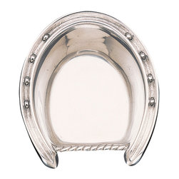 Arthur Court - Horseshoe Bowl - Who says Western style can't be elegant too? This handcrafted horseshoe serving bowl is full of rustic character, yet classy enough for a dinner party. In brilliantly polished sand cast aluminum, it's sure to make an impression on the table.