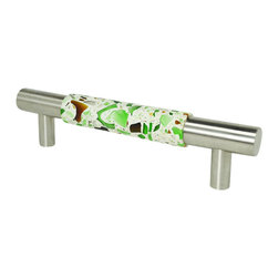 "Pierre Habitat - Contemporary Cabinet Pull - Make all your home cabinetry ""pop"" with these stylish Contemporary Cabinet Pulls from Pierre Habitat. Made with recycled glass that is totally green and sustainable. These pulls not only look good, they are good - for both you and the planet.  Planet-Friendly Hardware designed for you by Pierre Habitat. Sold Single."