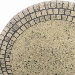 """Meadowcraft - Meadowcraft Faux Stone 30 Round Table Top - Meadowcraft is a leading domestic manufacturer of quality wrought iron furniture and cushions located in Wadley Alabama.  With traditional and post war modern styles utilizing subtle understated designs Meadowcraft furniture is an excellent addition to any home. Whether choosing the deep seating comfort of a cushioned loveseat or the comfortable durability of a commercial grade mesh bistro chair you are invited to relax in all of Meadowcrafts products.  Meadowcraft takes the """"made in the U.S.A."""" label seriously and strives to exceed its perceived responsibilities to their customers and community.  Features include Very durable and luxurious stone material Round slick shape Features patterned design. Specifications Finish: Tuscan Juliet."""