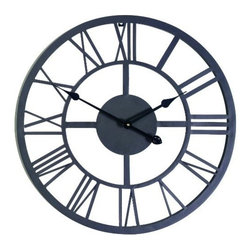 Gardman USA - Giant Roman Numeral Wall Clock - Giant Roman Numeral Wall Clock - Uses a battery operated quartz movement.   Looks great in the home or garden.   Roman numbers.  This item cannot be shipped to APO/FPO addresses. Please accept our apologies.