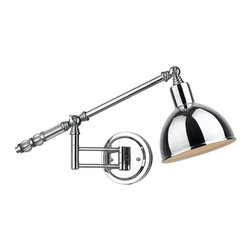 Crystal Accented Swing Arm Wall Lamp -
