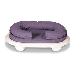 filled with visco elastic memory foam which conforms to the pet