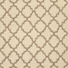 Dash & Albert Rug Company » Plain Tin Ivory Wool Micro Hooked Rug