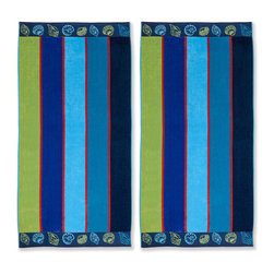 None - Superior Oversized Sea Shell Cotton Jacquard Beach Towel (Set of 2) - A seashell border brings rich,coastal style to this set of oversized jacquard beach towels. Crafted with pure combed cotton,these machine washable towels features a soft velour-like front with an absorbent terry cloth reverse.