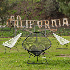 contemporary outdoor chairs by Potted