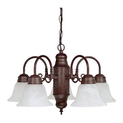 Capital Lighting - Capital Lighting 3255-118 5 Light 1 Tier Chandelier - Capital Lighting 3255-118 5 Light 1 Tier ChandelierFeaturing a highly decorative central cylinder and gorgeous White Faux Alabaster glass, this beautiful down lighting single tier five light Chandelier will add ample beauty and lighting to any dining room or other areas of the home.Capital Lighting 3255-118 Features: