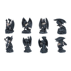 GSC - Dragon Set of 8 Collectible Fantasy Decoration Serpent Figurine Statue - This gorgeous Dragon Set of 8 Collectible Fantasy Decoration Serpent Figurine Statue has the finest details and highest quality you will find anywhere! Dragon Set of 8 Collectible Fantasy Decoration Serpent Figurine Statue is truly remarkable.
