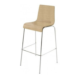Blu Dot - Barstool Barstool | Blu Dot - An unassuming take on the everyday side chair, the Barstool Barstool has good proportions, nice materials, and a great  price. The Barstool Barstool is stylish and versatile. So enjoy enjoy. Available in four finishes on a chrome-plated base. For those with a softer side, the Barstool Barstool is also available in a leather alternative upholstery in black or chocolate brown.