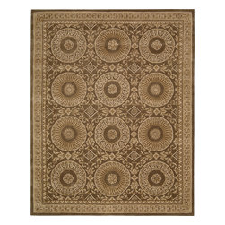Nourison - Nourison Versailles Palace VP50 (Mocha) 6' Octagon Rug - The serenely elegant designs of this collection were inspired by the 18th Century French carpets that first brought Persian and Oriental rug motifs to the royal courts of Europe. Yarns for these distinctive carpets are spun exclusively from the highest quality wool. A hand-tufted construction of extraordinary density creates a tight, luxurious pile that is a pleasure to both the eye and the touch. Delicate accents of hand-carving highlight the contours of each design to enhance a look of rare subtlety and refinement.