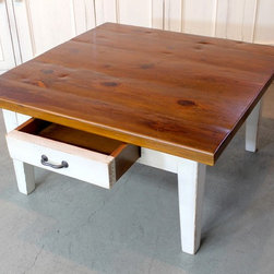 rustic coffee table from reclaimed wood - Made by http://www.ecustomfinishes.com