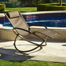RST Brands - RST Luis Orbital Lounger - Brown - OP-OL04S-BRN - Shop for Chaise Lounges from Amazon Marketplace! The RST Luis Orbital Lounger - Brown is a rocking patio chair inspired by and adapted from a sleek European design. This lounger is all about style and quality in outdoor living. The sling is made of premium woven PVC fabric and the frame is crafted from high strength bronze powder-coated finished steel. The handsome espresso colored material is quick-drying weather-proof fade-resistant and is engineered to provide years of use. Able to comfortably hold up to 275 lbs. the unique back support and Zero-Gravity design provides a most relaxing seating experience. Designed to allow your knees to be nearly parallel to your heart you can relax in the best possible blood-pressure neutral position. Polyurethane stops on the back side of the frame prevent the chair from tilting uncomfortably backward so you can rest easy. This stylish recliner folds to a mere eight inches wide and weighs only 25 lbs. for easy transport and storage and can easily be maintained with mild soap and water. Additional Features Unique back design allows for best position Blood-pressure natural position Polyurethane stops on backside Chair won't tilt uncomfortably backward Easy to maintain with mild soap and water Folds to a mere 8-inches wide