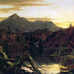 "Thomas Cole Autumn Twilight: View of Copway Peak (also known as Mount Chocorua, - 16"" x 24"" Thomas Cole Autumn Twilight: View of Copway Peak (also known as Mount Chocorua, New Hampshire) premium archival print reproduced to meet museum quality standards. Our museum quality archival prints are produced using high-precision print technology for a more accurate reproduction printed on high quality, heavyweight matte presentation paper with fade-resistant, archival inks. Our progressive business model allows us to offer works of art to you at the best wholesale pricing, significantly less than art gallery prices, affordable to all. This line of artwork is produced with extra white border space (if you choose to have it framed, for your framer to work with to frame properly or utilize a larger mat and/or frame).  We present a comprehensive collection of exceptional art reproductions byThomas Cole."