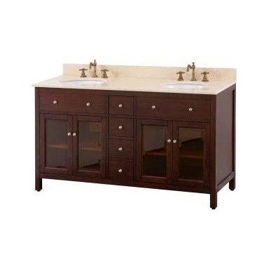 "Avanity - Avanity Lexington 60 Vanity Cabinet Only, Light Espresso (LEXINGTON-V60-LE) - Avanity LEXINGTON-V60-LE Lexington 60"" Vanity Cabinet Only, Light Espresso"