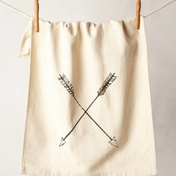 Crossed Arrows Dish Towel - I have adapted dish towels so many ways: I've made them into pillows, aprons and even skirts. Though I think that this dish towel is pretty perfect just as it is.