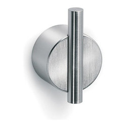 """Blomus - Blomus Wall Hook With  Adhesive - Dont feel like drilling holes but want the stainless steel hardware hook? This Adhesive Wall Hook is the solution.Color/Material: Stainless Steel Matt or PolishedSize: 1.97"""" Diameter x 1.18"""" Deep"""