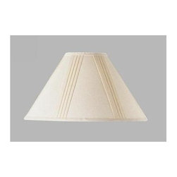 Cal Lighting - 6 in. Top Side Pleated Linen Shade - Side pleated linen shade. Top: 6 in.. Bottom: 19 in.. Side: 12 in.