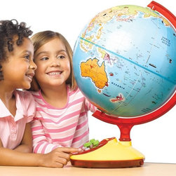 GeoSafari - Educational Insights GeoSafari Talking Globe Jr. Multicolor - 8898 - Shop for Learning and Education from Hayneedle.com! Your kids can get to know the world like it's their own backyard when they spend a bit of time exploring with the Educational Insights GeoSafari Talking Globe Jr.. This 12-inch globe does more than just spin. Questions games music lights and voices help your child really get into geography and figure out where things are and what that means for them. If they ever get stuck there's always the option to repeat the question or push the help button so they never have to get stuck on the wrong side of the planet. About Educational Insights Based in Southern California Educational Insights specializes in the manufacturing and innovation of educational toys and games. Early childhood math language Spanish science and social studies are all subjects they tackle in fun and inspiring ways. Teacher resources classroom products and games like Jeopardy are all a part of Educational Insights rich inventory designed by experienced educators and parents because they know best! Make learning fun with Educational Insights.