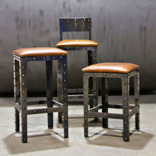 industrial bar tables by Basin Custom