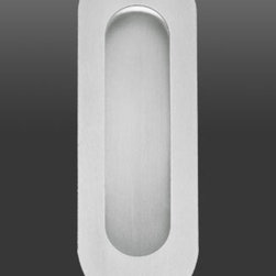 Modern Stainless Steel Recessed Cup Pull, EZ1702 - Description: Recessed cup pull for wood door of any thickness.