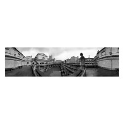 Pump Room, Bath, England, Limited Edition, Photograph - New/perspectives: 360 degree photographs as humans it seems we are always looking for a new and exciting way of seeing or looking at reality, or enhancing our perception of reality by changing or altering the norm through various means. this begins when we are children. we find out early that we can distort our reality by spinning around and later we find out that we can do the same thing as adults by using drugs and alcohol to change our perception of reality.  in photography you can change the perspective of a photograph, to create a new way of seeing familiar objects by making a photograph that is 360 degrees. if you take the 360 degree photograph and lay it flat everything that we understand about perspective changes. it becomes skewed, bent, and out of proportion. even though the subject matter is recognizable it isn��_��_��_t always comprehensible. one of the reasons for this is that the viewer is now seeing renaissance perspective in a totally different way. instead of one or two vanishing points in the photograph they become many and varied. this change in unlimited vanishing points is how the skewed, bent, out of proportioned look of the 360 degree photograph reorients and at the same time visually challenges the viewer.  joel degrand ?��_ 2001  someone once asked salvador dali if he took drugs in order to make his surreal paintings. he said, ��_��_��_take me, i am the drug; take me, i am hallucinogenic.��_��_��_