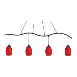 Z-Lite - Z-Lite Jazz Track Light Kit - 4 Pendants - Red Multicolor - 131-4SB-RED - Shop for Pub/Billiard and Island Lighting from Hayneedle.com! About Z-LiteThis superior lighting product is designed by Z-Lite a leader in home lighting. Handcrafted and expertly designed Z-Lite lamps and lighting are unique works of art. Slight variations in color exist. Look to Z-Lite for a wide assortment of stylish ambient lighting for your home.