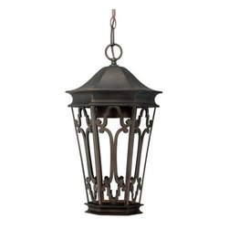 Capital Lighting - Capital Lighting 9446 Townsende 1 Light Outdoor Dark Sky Pendant - Capital Lighting 9446 Townsende 1 Light Outdoor Dark Sky PendantWith a unique Dark Sky compliant design that casts light downwards into the ornately classic cage, this large lantern style outdoor pendant will provide plenty of light and style to any outdoor location without causing unnecessary light pollution so we may all enjoy the night sky.Capital Lighting 9446 Features: