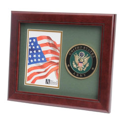 US Army Portrait Picture Frame - 10-Inch by 12-Inch Military Portrait Picture Frame