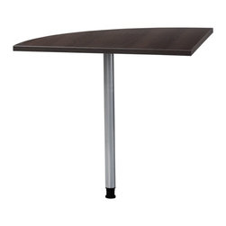 """Prima Corner - The Prima corner has a simple, yet pratical Danish design.  The Prima works great in an office or home setting.  Constructed from manufactured wood and covered in a laminate finish. The corner can be combined with a 4' desk and 5' desk to construct an """"L"""" shape desk."""