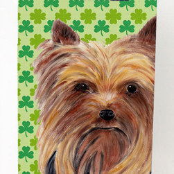 Caroline's Treasures - Yorkie St. Patrick's Day Shamrock Portrait Michelob Ultra Koozies for slim cans - Yorkie St. Patrick's Day Shamrock Portrait Michelob Ultra Koozies for slim cans SC9285MUK Fits 12 oz. slim cans for Michelob Ultra, Starbucks Refreshers, Heineken Light, Bud Lite Lime 12 oz., Dry Soda, Coors, Resin, Vitaminwater Energy, and Perrier Cans. Great collapsible koozie. Great to keep track of your beverage and add a bit of flair to a gathering. These are in full color artwork and washable in the washing machine. Design will not come off.
