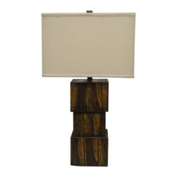 YOSEMITE HOME DECOR - 1 Light Resin Table Lamp with Beige Fabric Shade - - 29 Inch Resin Table Lamp with Beige Fabric Shade