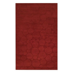 Surya Rugs - Surya SCU-7547 Sculpture Designer Hand Loomed 100% Wool Rust Red Rug - 100% Wool. Style: Designer. Rugs Size: 5' x 8'. Note: Image may vary from actual size mentioned.