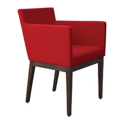 Harput Dining Chair by sohoConcept - Would you believe this stylish armchair has easily removable upholstery? That feature adds practicality to great design and beautiful lines--a wonderful combination.