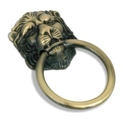 Richelieu Hardware Village Expression Lion Face Pull - The lion ring pull is one of my favorites. It's classic and a little bit kitschy at the same time.