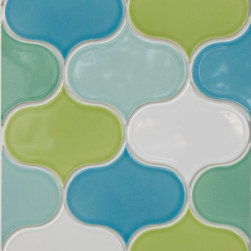 Modern Morocco - The Lantern shape tile is a soft take on the traditional arabesque shaped tile. Use for any interior wall to add an interesting texture or color.