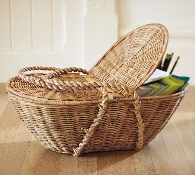 traditional baskets by Pottery Barn