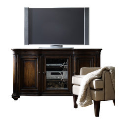 Hooker Furniture - Entertainment Console 64in 5138-55434 - A dark cherry finish with heavy burnishings and very heavy physical distressing for a rustic look.
