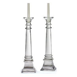 Go Home Ltd - Go Home Ltd Pair Of Fontaine Candlesticks X-02161 - Pack of 2