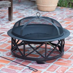 Fire Sense Portsmouth Fire Pit - Sometimes simple designs are the best, and the Fire Sense Portsmouth Fire Pit will keep the outdoor entertaining continuing long into the night. -Mantels Direct