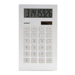 Metal Calculator, Silver/Orange