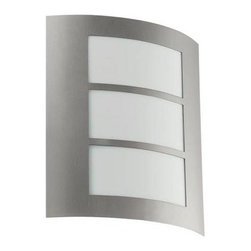 Eglo - Eglo Outdoor Lighting. City 1-Light Outdoor Stainless Steel Wall Light - Shop for Lighting & Fans at The Home Depot. City is a fantastically simple yet ultra stylish and contemporary outdoor wall light. Square and convex, the aluminum frame is light yet strong and, along with the acrylic glass, will ensure years of use. The City requires a CFL bulb which means it saves you money on energy.
