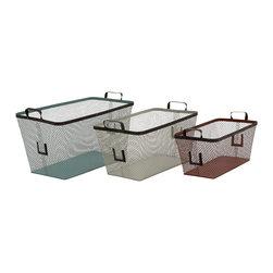 Simply Too Useful Metal Basket, Set of 3 - Description: