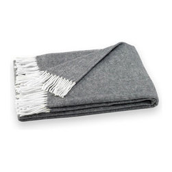 Charcoal Herringbone Throw - A charcoal herringbone throw would enhance a bedroom, guest room or family room with warmth and a touch of great Art Deco style.