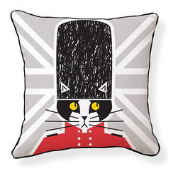 """Naked Decor - Keep Calm and Kitty On Pillow - Size: 18""""x18"""" Zipper closure"""