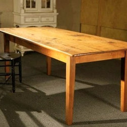Barn Style Dining Table  with Golden Brown Finish - Made by http://www.ecustomfinishes.com