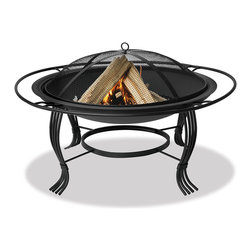 Blue Rhino - Black Outdoor Firebowl - This Blue Rhino outdoor wood burning firepit is a functional and affordable addition to any deck,patio or poolside. The bowl is wrought iron construction for a strong and bold statement with a traditional and elegant feel.