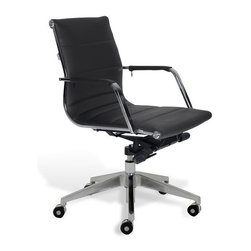 Jesper Office Furniture - Sofia Low-Back Office Chair -Black - Features: