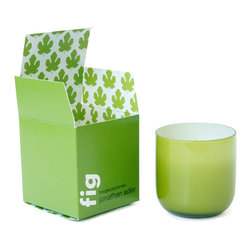 Jonathan Adler Candle POP Fig - Jonathan Adler POP: Fig Garden scents of Bergamot, Ivy, Coconut, Emerald Moss, and Figwood in a bold Pop Glass vessel with packaging as fresh as the product.