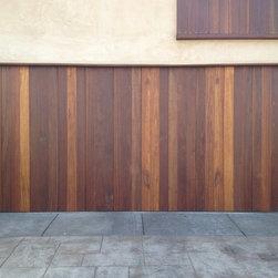Redwood Garage Door Vertical Planks - Agi Dyer
