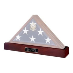 Military Flag and Medal Display Case Shadow Box - Military Flag and Medal Display Case Shadow Box