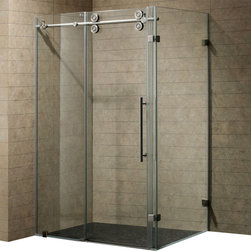 Vigo - Vigo 36 x 60 Frameless 3/8in.  Clear/Stainless Steel Shower Enclosure - This Vigo clear shower enclosure adds a touch of elegance and luxury to any bathroom.
